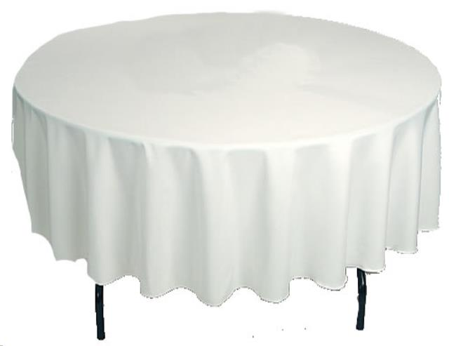 Where to find TABLECLOTH, 108  ROUND WHITE in Monroe
