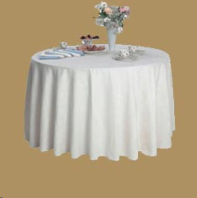 Where to find TABLECLOTH, 120  ROUND WHITE in Monroe