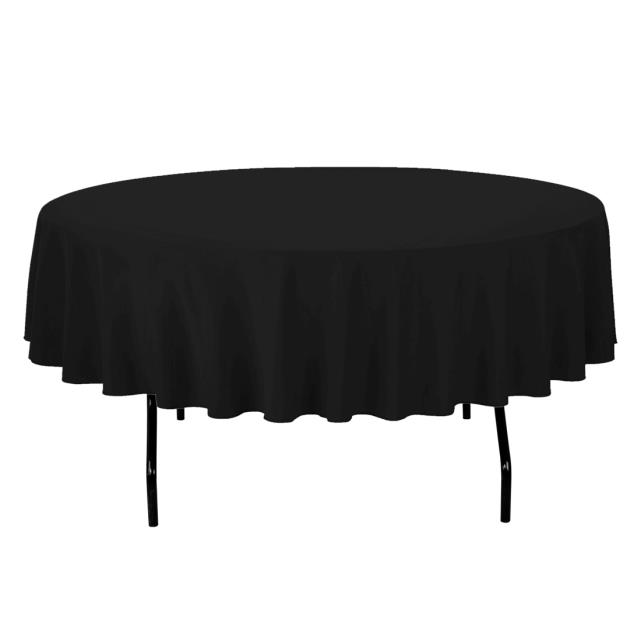 Where to find TABLECLOTH, 90  ROUND BLACK in Monroe