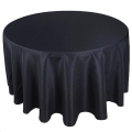 Rental store for TABLECLOTH, 120  ROUND BLACK in Monroe WA